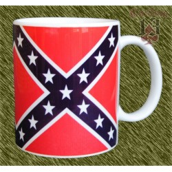Taza de porcelana, bandera rebelde