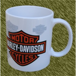 Taza de porcelana, Harley logos