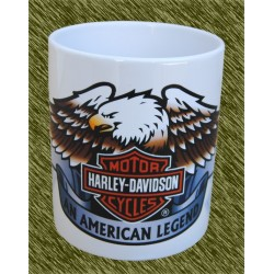 Taza de porcelana, Harley aguila