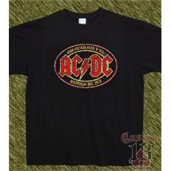 Camiseta negra, AC-DC, high voltage