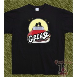 Camiseta negra, grease