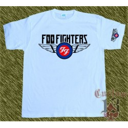 Camiseta blanca, foo fighters