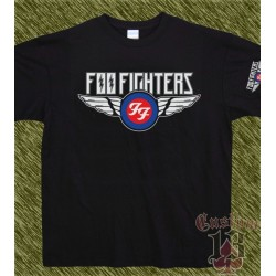 Camiseta negra, foo fighters