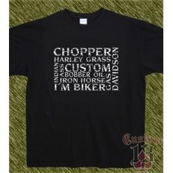 Camiseta negra, multi palabras