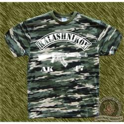 Camiseta camuflaje, kalashnikov