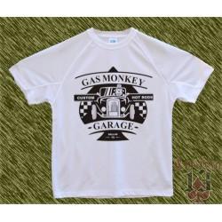 Camiseta blanca, Gas monkey modelo 6
