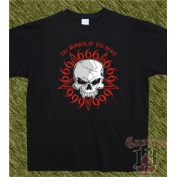 Camiseta, 666 the number of the beast