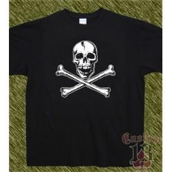 Camiseta, Calavera con tibias
