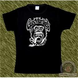 Camiseta negra de mujer, Gas monkey modelo 1