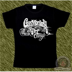 Camiseta negra de mujer, Gas monkey modelo 3