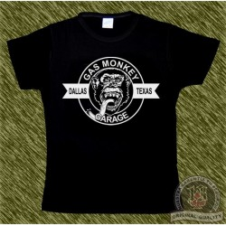 Camiseta negra de mujer, Gas monkey modelo 4