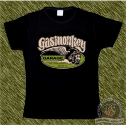 Camiseta negra de mujer, Gas monkey modelo 5