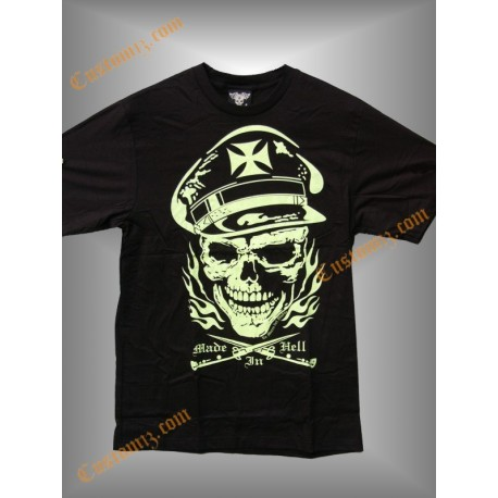 camiseta 666, made in hell