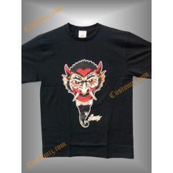 camiseta sailor jerry, diablo colmillos