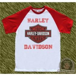 camiseta beisbol, harley roja