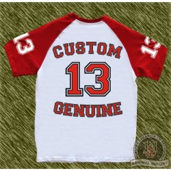 camiseta beisbol, custom 13 team, roja