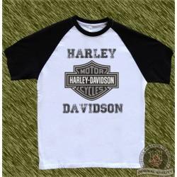 camiseta beisbol, harley negra