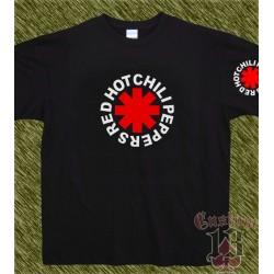 Camiseta negra, red hot chili peppers