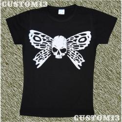 Camiseta mujer, Mariposa skull