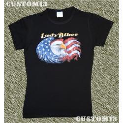 Camiseta mujer, Lady biker, eagle