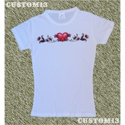 Camiseta mujer, Corazone estrellas