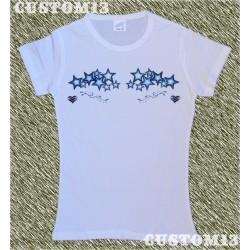 Camiseta mujer, Estrellas corazones