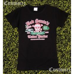 Camiseta mujer, Bad santa's, tattoo parlor