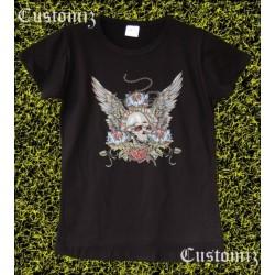 Camiseta mujer, Calavera alas
