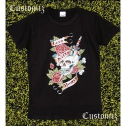 Camiseta mujer, Love kills alwais