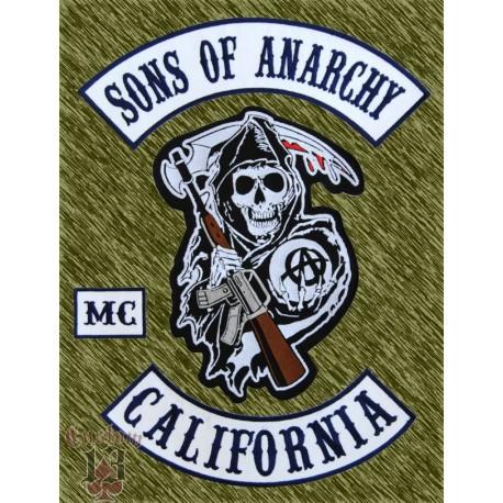 Parches Sons of Anarchy, (4 piezas) espalda