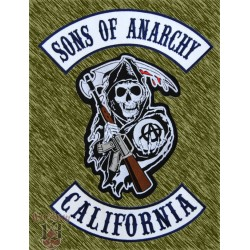 Parches Sons of Anarchy, (3 piezas) espalda