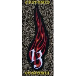 Parche 13 en llamas
