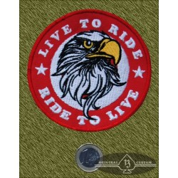 Parche Eagle live to ride, ride to live