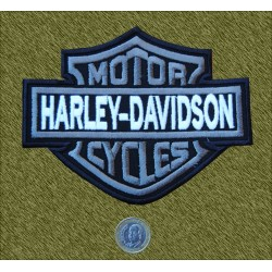 Parche Harley mediano gris