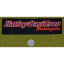 Parche Harley Davidson letras naranjas II