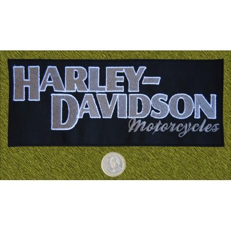 Parche Harley Davidson letras grises