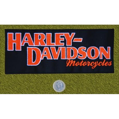 Parche Harley Davidson letras naranjas