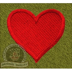 Parche Corazón rojo