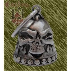 Campana biker skull flames