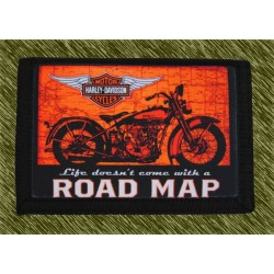 cartera nylon con cadena, road map, harley
