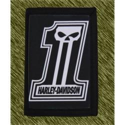 cartera nylon con cadena, 1hd, harley davidson