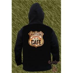 Sudadera con capucha, route 66, cafe