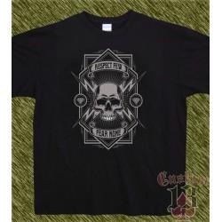 Camiseta negra, respect few