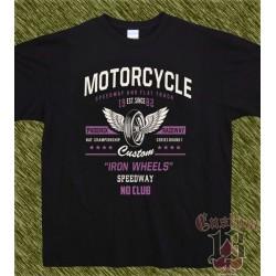 Camiseta negra, iron wheels, no club