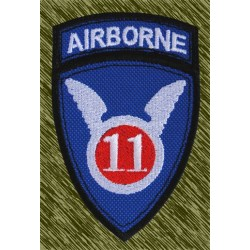 parche bordado, airborne 11 división