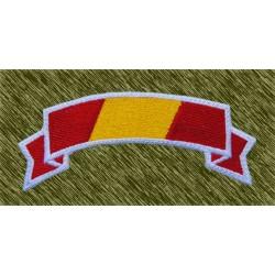 parche bordado, banda bandera españa