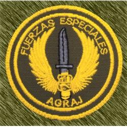 parche bordado, fuerzas especiales AGRAJ