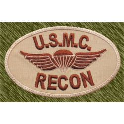 parche bordado, USMC recon