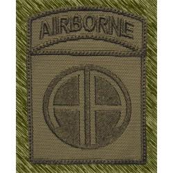 parche bordado, airborne 82 división verde