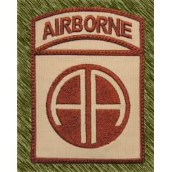 parche bordado, airborne 82 división desert